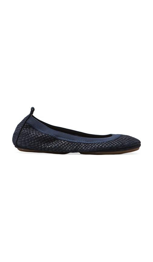 Embossed Croc Flatin Midnight