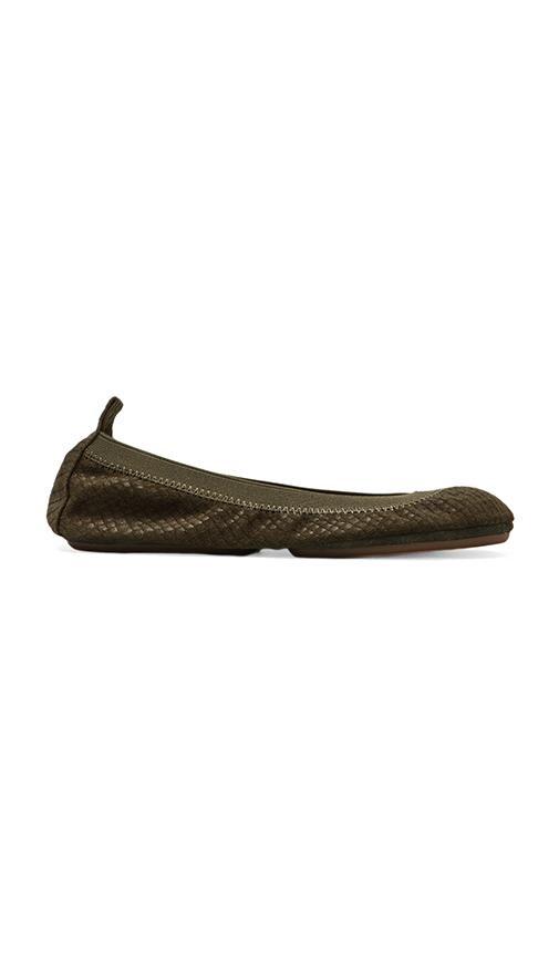 Embossed Croc Flat