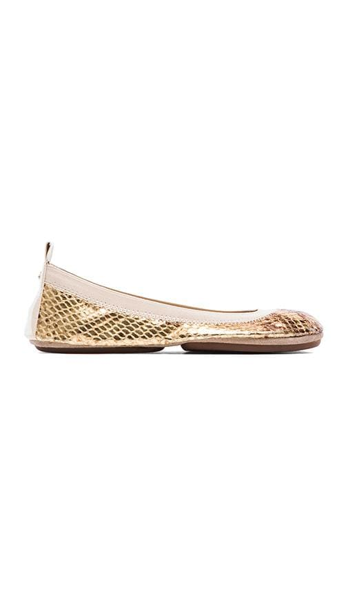 Samara Metallic Python Leather Flat