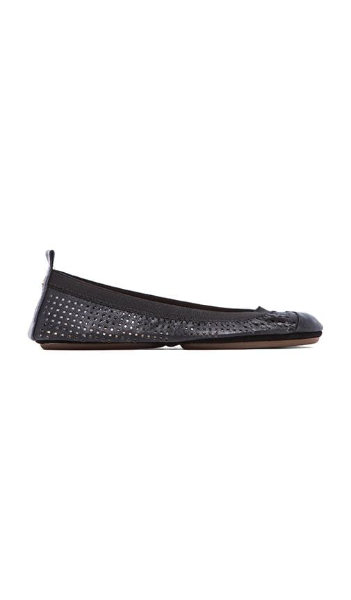Samantha Perforated Leather Flat