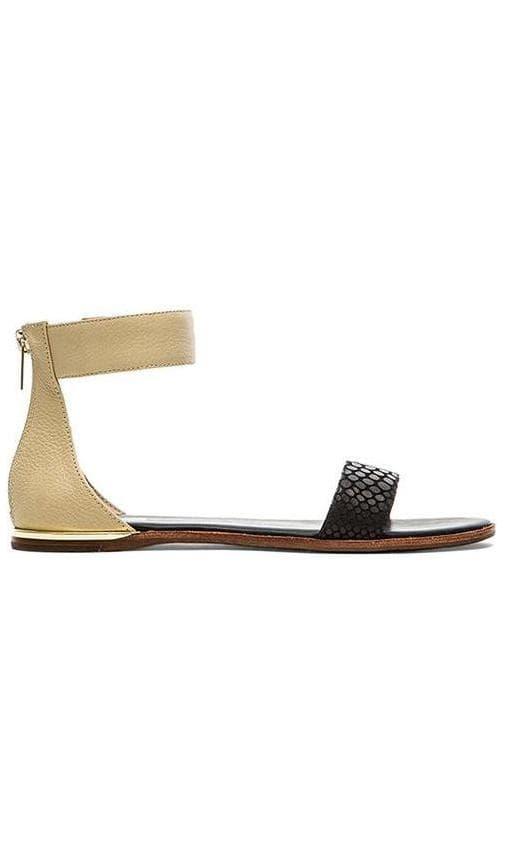 50ac27c485da6 Yosi Samra Cambelle 3D Croco Sandals in Biscotti & Black | REVOLVE