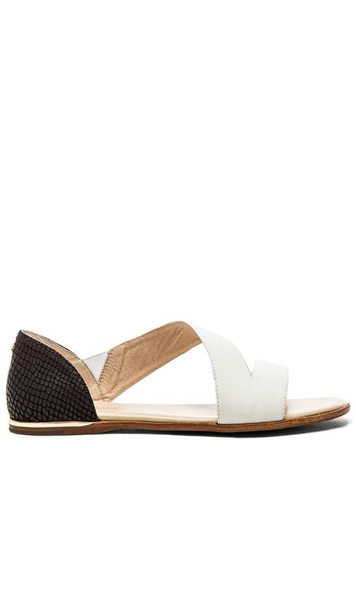 Yosi Samra Casey Crossover Sandal in White & Black
