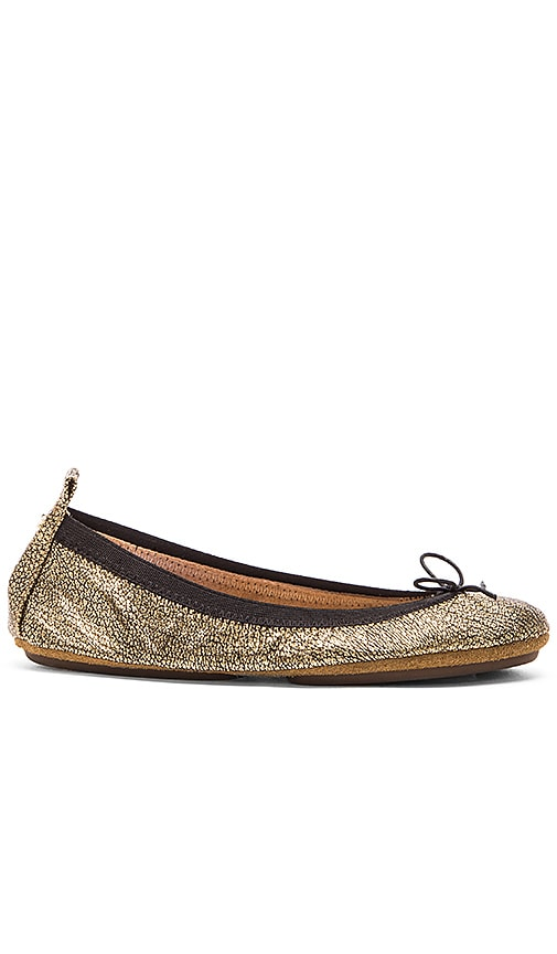 Yosi Samra Sandrine Flat in Crackle Metallic