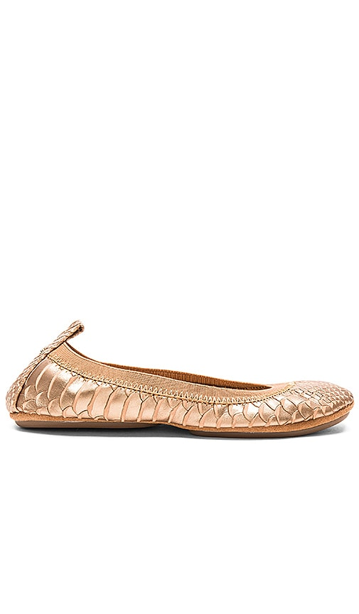 Yosi Samra Samara Flat in Metallic Copper