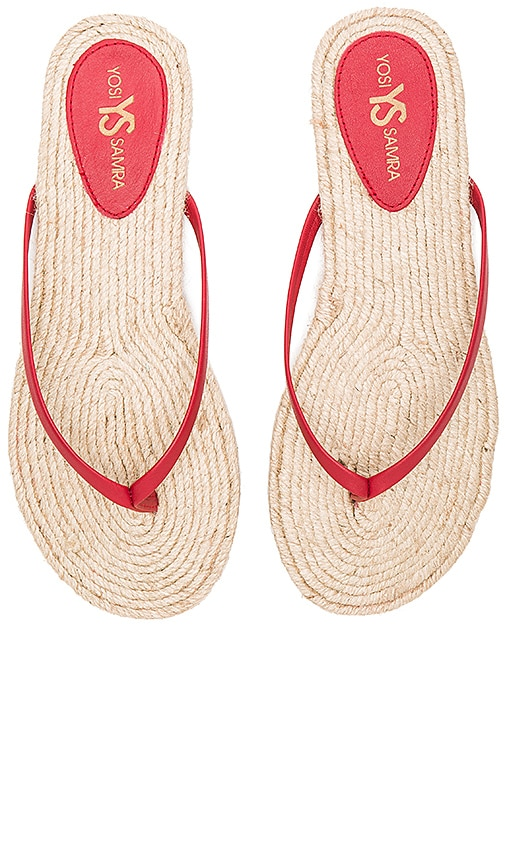 Yosi Samra Roee Rope Flip Flop in Red
