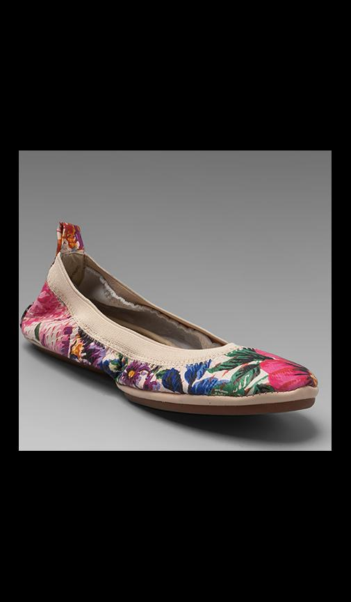 Antique Floral Printed Flats