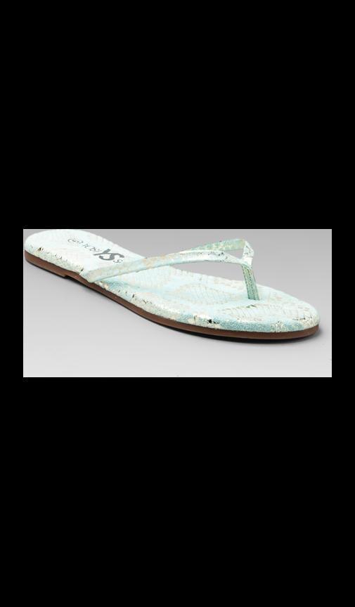 Metallic Snake Sandal