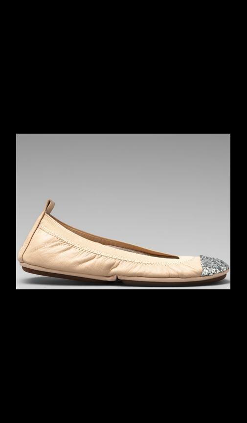 Glitter Captoe Flat
