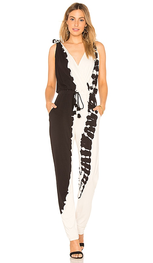 Young, Fabulous & Broke Pam Jumpsuit in Black & White