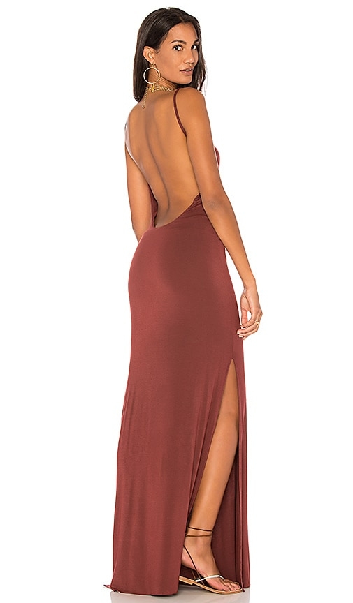 Young, Fabulous & Broke Faron Maxi Dress in Rust