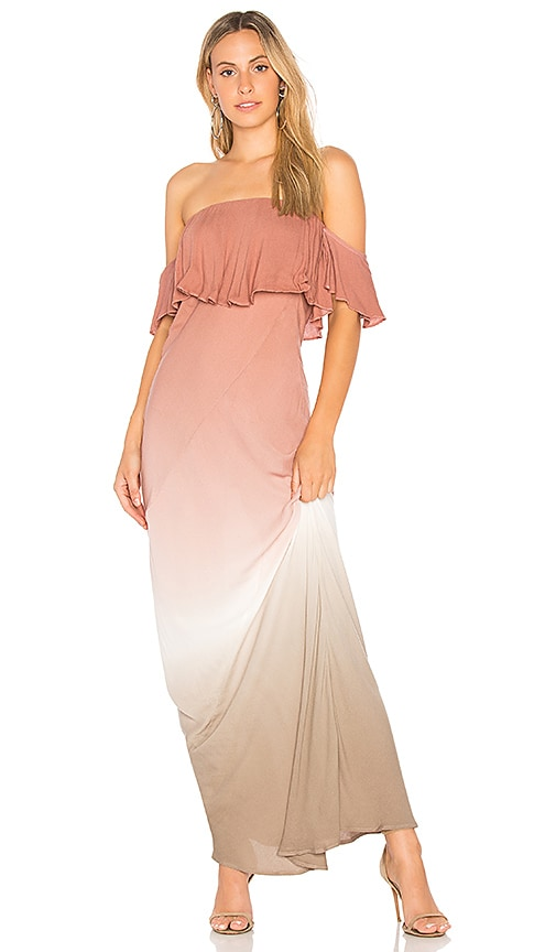 Young, Fabulous & Broke Nell Maxi Dress in Mauve