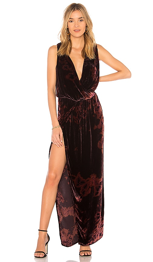 Young, Fabulous & Broke Juliette Maxi Dress in Burnt Orange