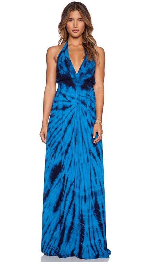 Young, Fabulous & Broke Brooks Maxi Dress in Blue Dreamer Wash