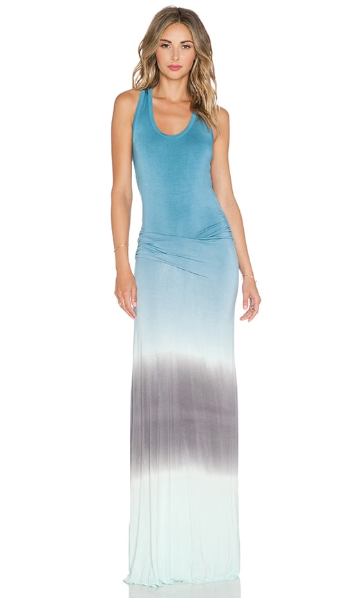 Young, Fabulous & Broke Hamptons Maxi Dress in Teal & Sky Ombre