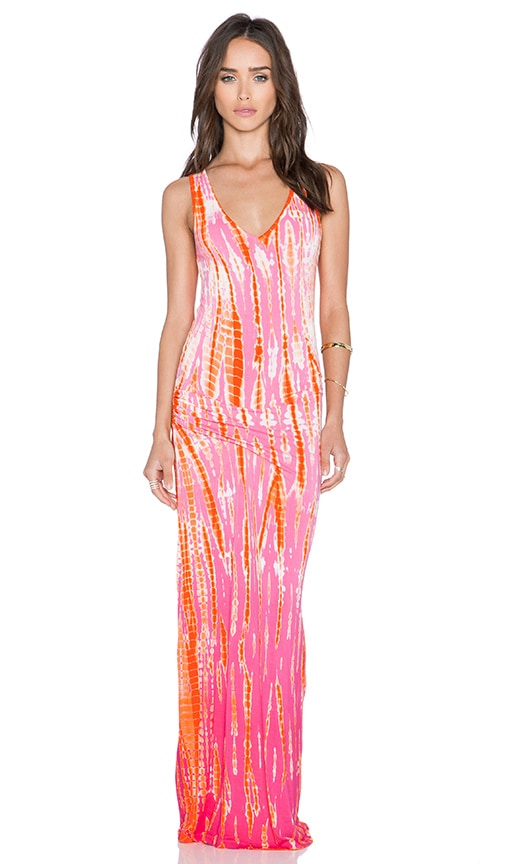 Young, Fabulous & Broke Sienna Maxi Dress in Pink Rain Ombre
