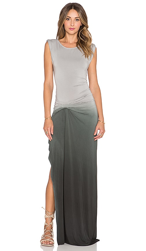 Young, Fabulous & Broke Bryton Maxi Dress in Olive Ombre