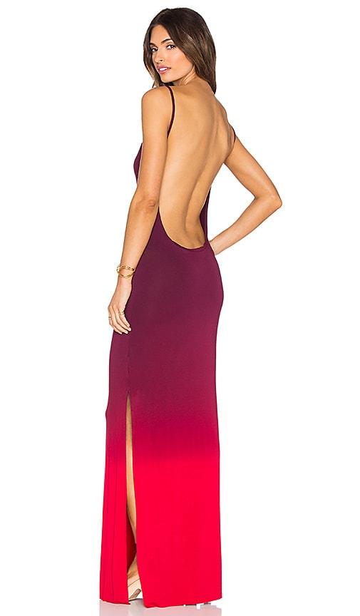 Young, Fabulous & Broke Faron Maxi Dress in Crimson Ombre