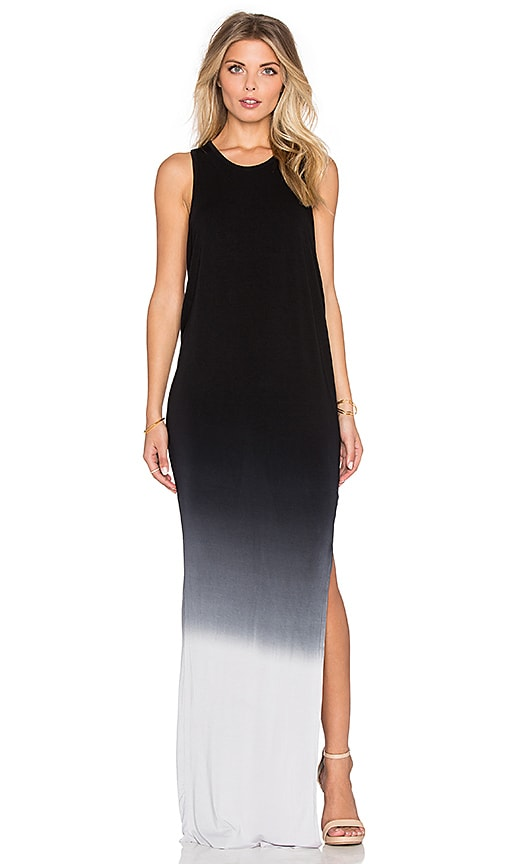 Young, Fabulous & Broke Samantha Maxi Dress in Black & Grey Ombre