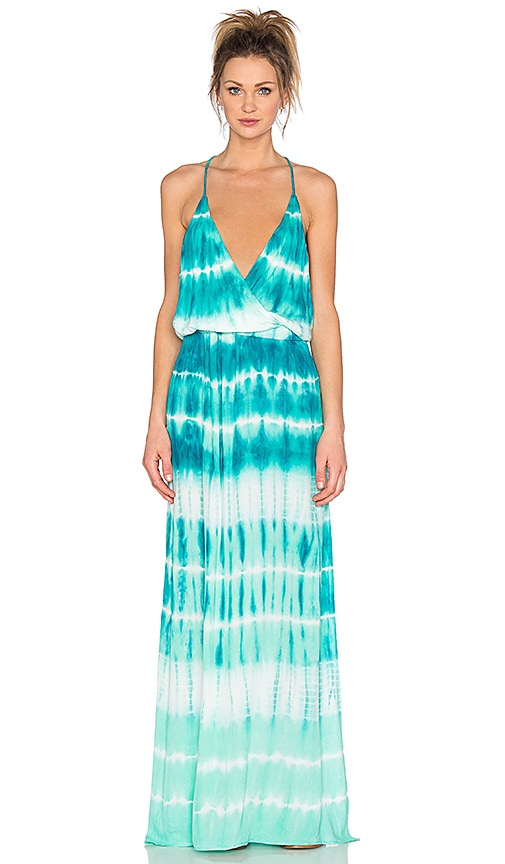 Young, Fabulous & Broke Nala Maxi Dress in Caribe TIde Wash
