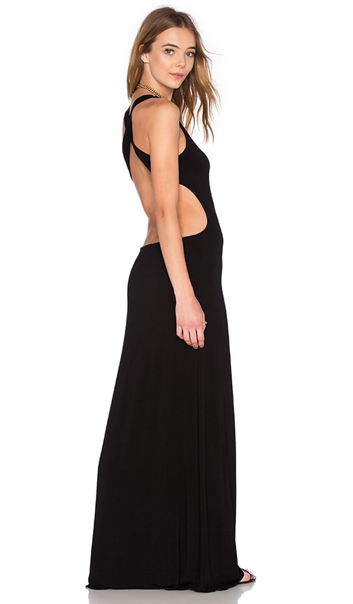 Young, Fabulous & Broke Alva Maxi Dress in Black