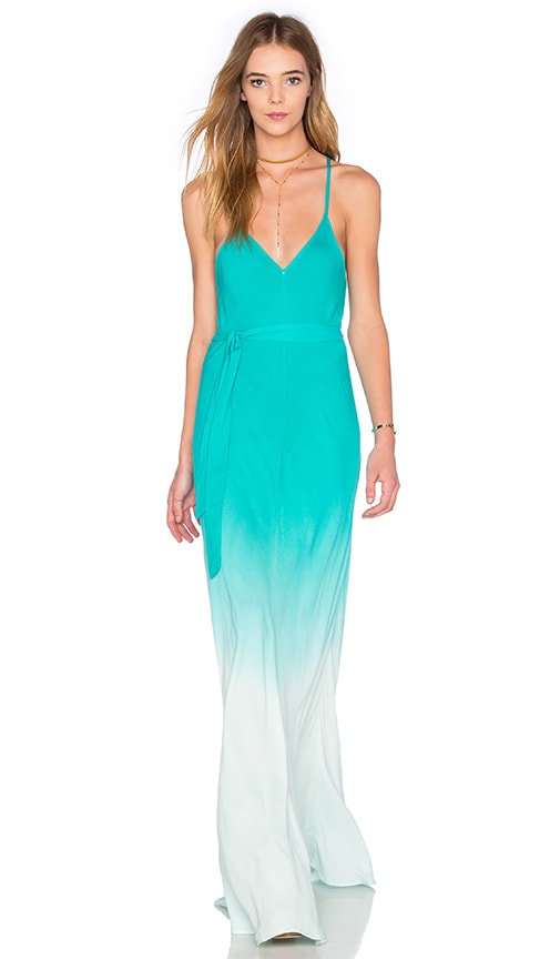 Young, Fabulous & Broke Carla Maxi Dress in Turquoise Ombre