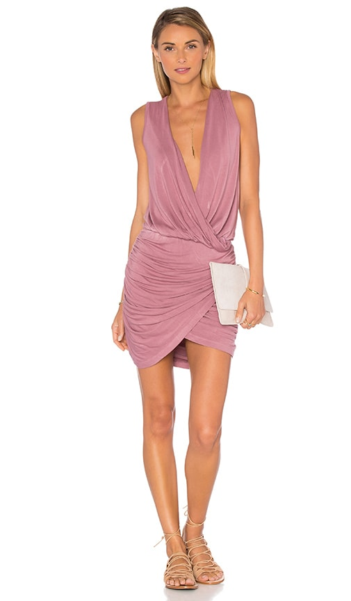 Young, Fabulous & Broke Stacey Mini Dress in Mauve