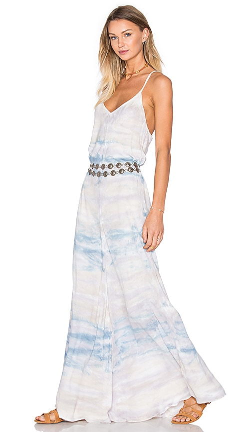 Young, Fabulous & Broke Carla Maxi Dress in Blue