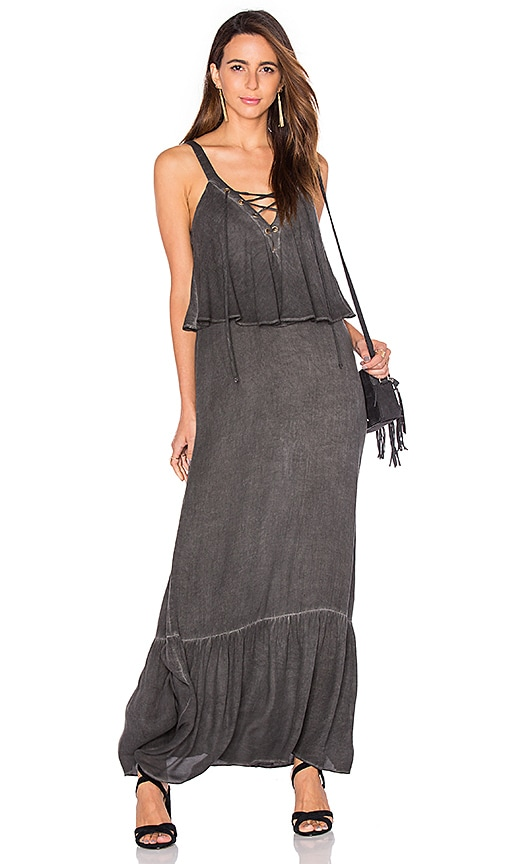 Young, Fabulous & Broke Copal Maxi Dress in Gray