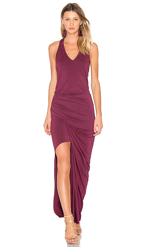 Young, Fabulous & Broke Rena Maxi Dress in Burgundy