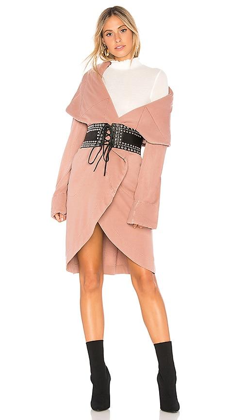 Young, Fabulous & Broke Sandrine Coat in Rose