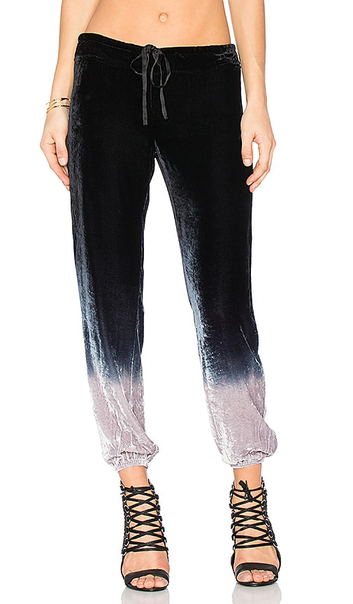 Young, Fabulous & Broke Jaymee Velvet Pant in Black