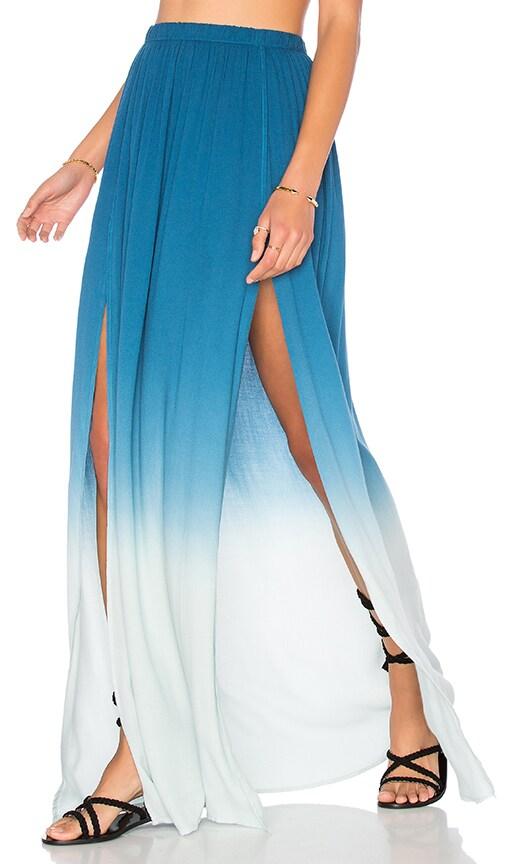 Young, Fabulous & Broke Noel Maxi Skirt in Blue