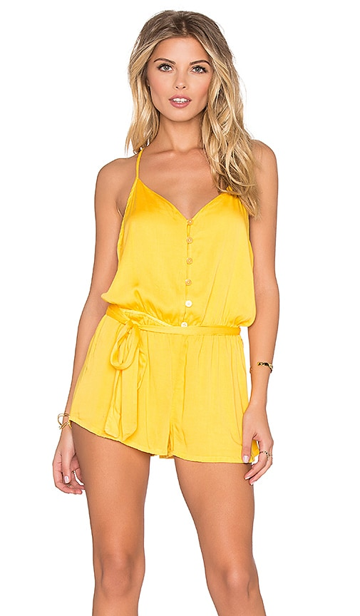 Young, Fabulous & Broke Jay Romper in Yellow