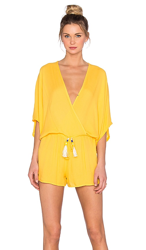 Young, Fabulous & Broke Ashley Romper in Yellow