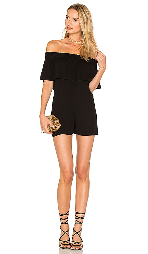 Young, Fabulous & Broke Jemima Romper in Black
