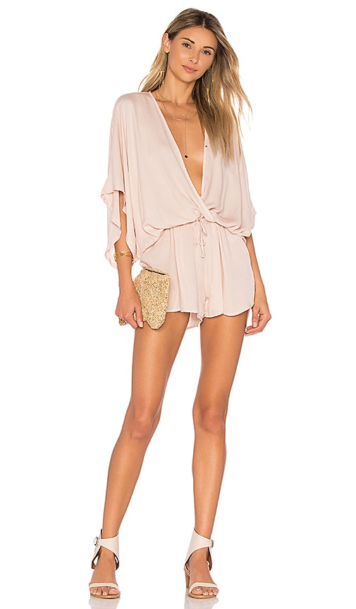 Young, Fabulous & Broke Ashley Romper in Pink