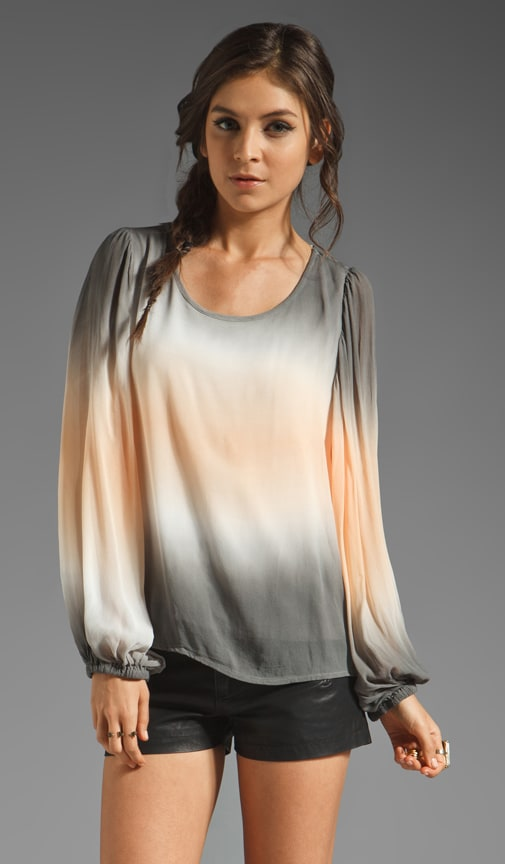 Wren Top Grey Double Ombre