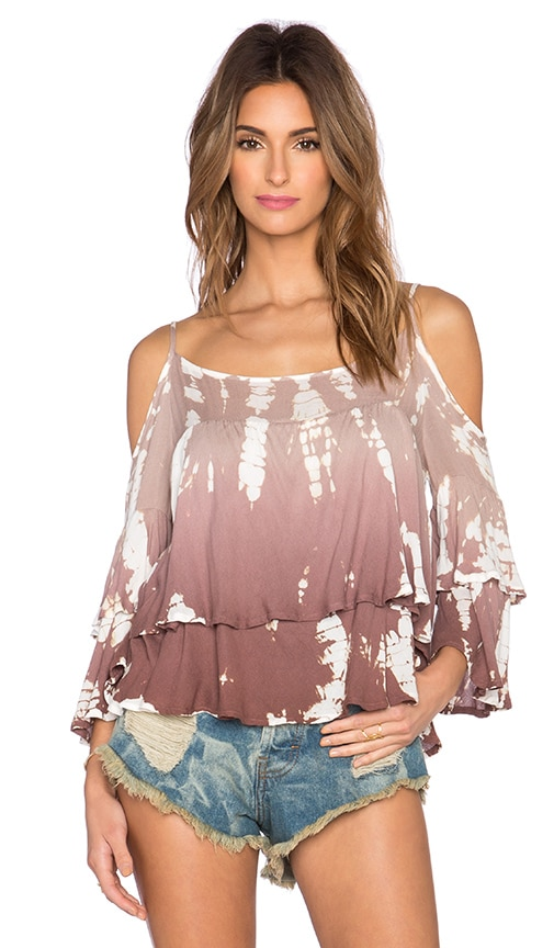 Young, Fabulous & Broke Gia Top in Mocha Rain Ombre