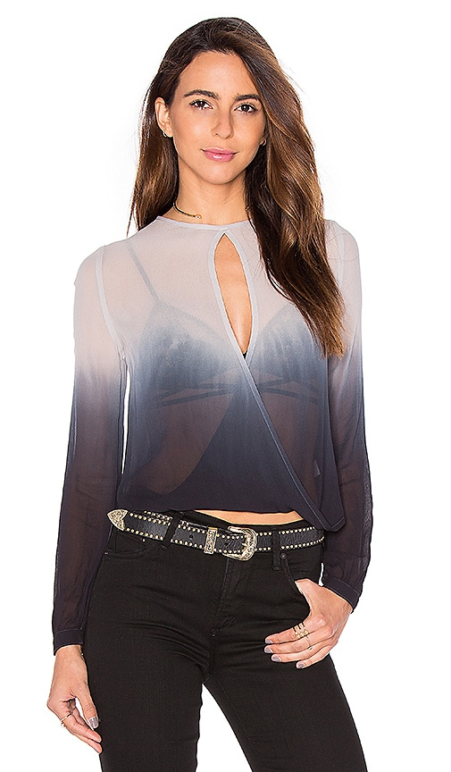 Young, Fabulous & Broke Caliante Wrap Top in Gray