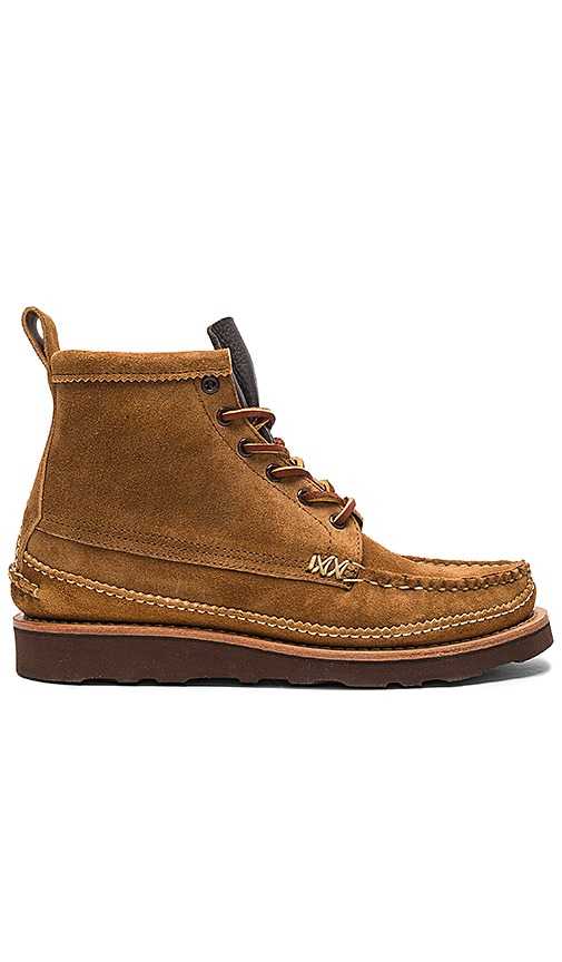 Yuketen Maine Guide 6 Eye DB Boots in Cognac
