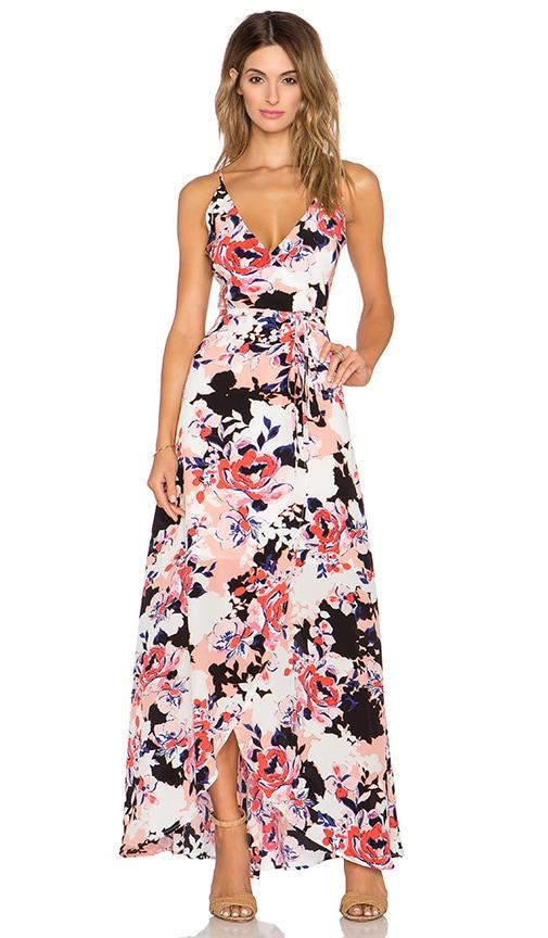 Yumi Kim Rush Hour Maxi Dress in Peach Coral Rose