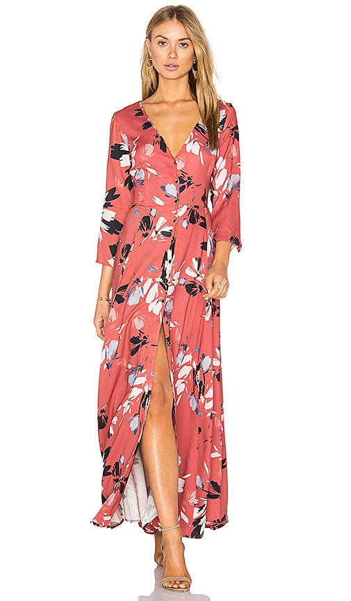 Yumi Kim Brooklyn Maxi Dress in Coral