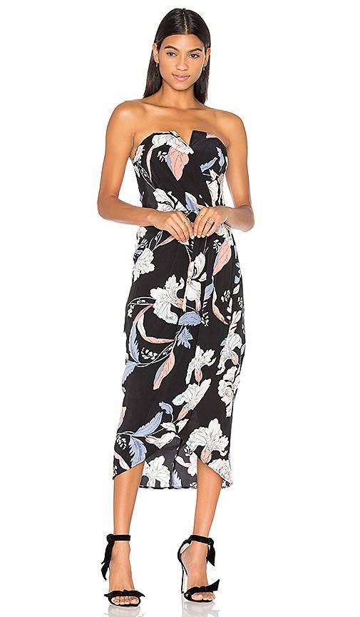 Yumi Kim Glamour Night Midi Dress in Black