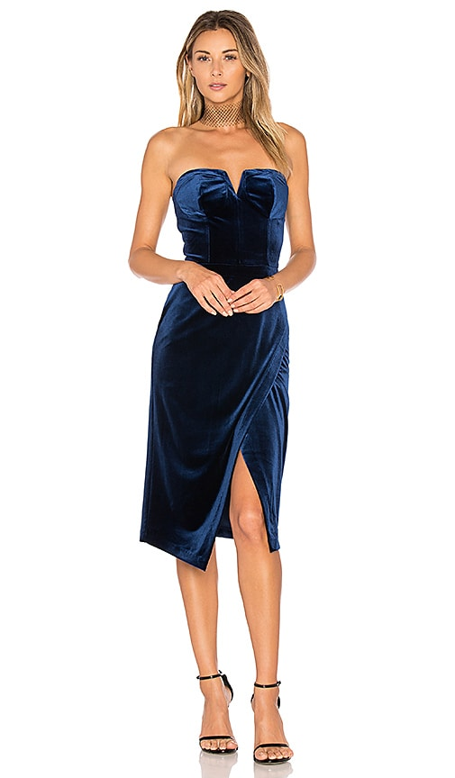 Yumi Kim Velvet Allure Dress in Royal