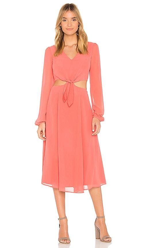 Yumi Kim Open Heart Dress in Coral