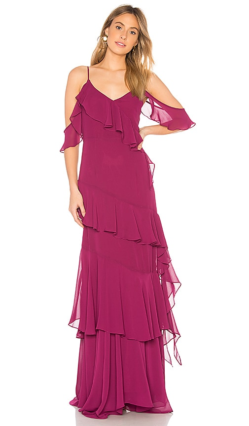 Yumi Kim Hearts Desire Dress in Burgundy