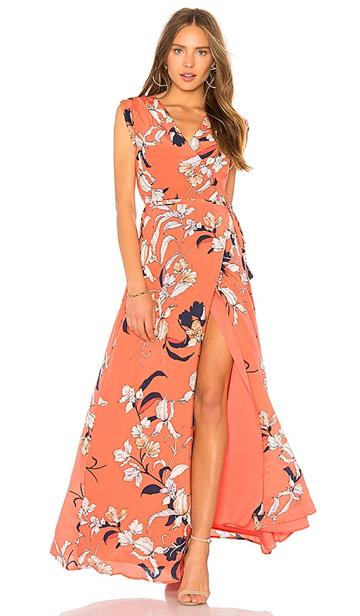 Yumi Kim Swept Away Maxi Dress in Coral