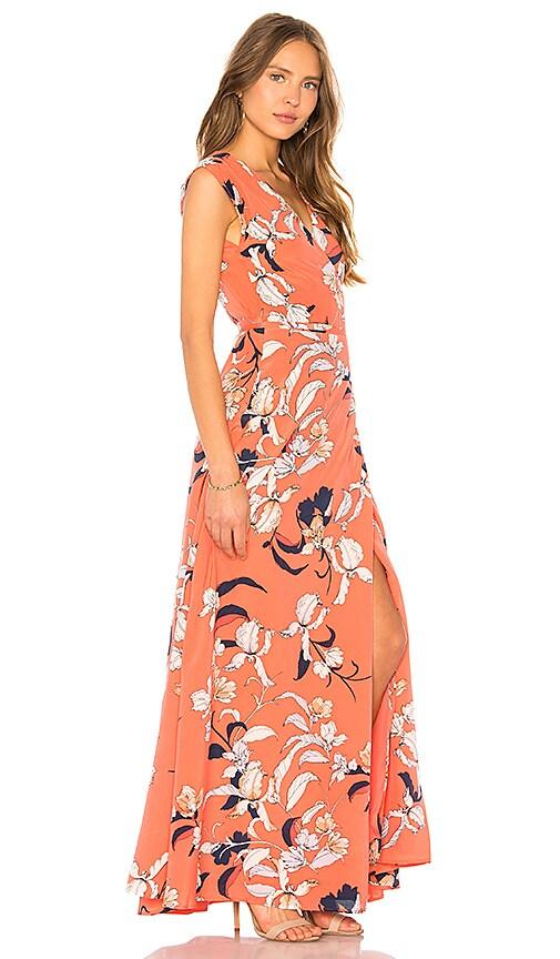 Yumi Kim Swept Away Maxi Dress In Coral Modesens