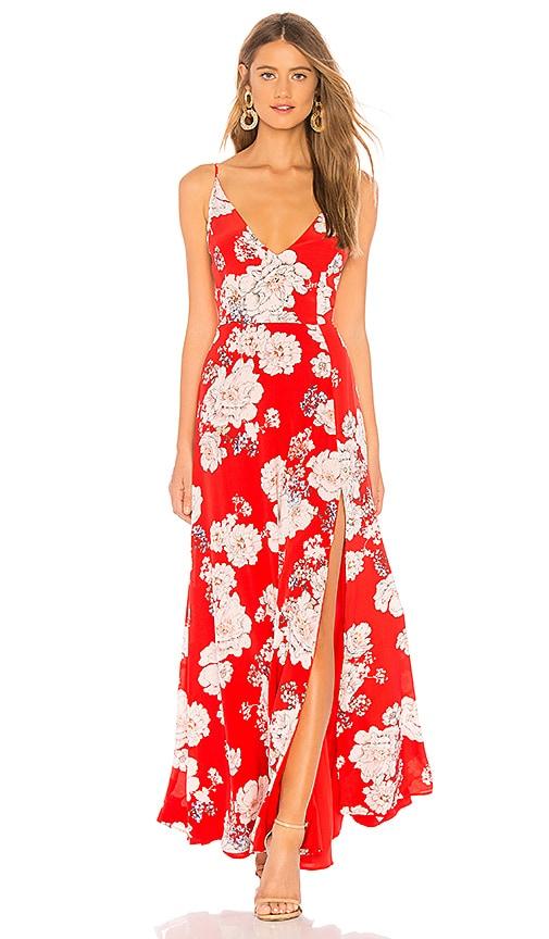 72e98a3cfeec Yumi Kim Jasmine Maxi Dress in Sweet Jasmine Red