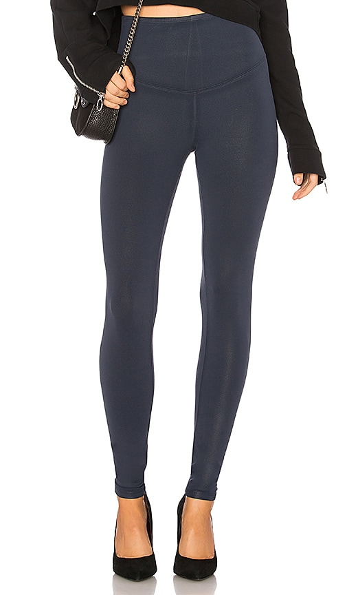 Yummie by Heather Thomson Signature Coated Legging in Navy